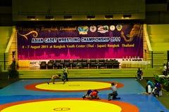 Asiatisk kadettbrottningmästerskap 2011, 4-7 - BANGKOK, THAILAND, 4-7 Augusti 2011 Royaltyfri Bild