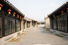 Asiatisk kines, Peking, den stora Canalen Forest Park, antik byggnad Arkivfoto