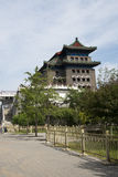 Asiatisk kines, Peking, forntida arkitektur, Zhengyang Jianlou Arkivfoto