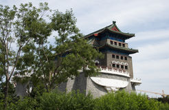 Asiatisk kines, Peking, forntida arkitektur, Zhengyang Jianlou Arkivfoton
