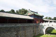 Asiatisk kines, Peking, forntida byggnad, Tiantan, fastaslott Arkivbilder