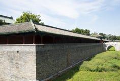 Asiatisk kines, Peking, forntida byggnad, Tiantan, fastaslott Royaltyfri Bild