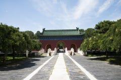 Asiatisk kines, Peking, forntida byggnad, Tiantan, fastaslott Royaltyfria Bilder