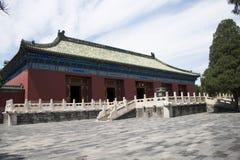 Asiatisk kines, Peking, forntida byggnad, Tiantan, fastaslott Arkivfoton