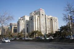 Asiatisk kines, Peking, Fu byggnad, modern arkitektur Fotografering för Bildbyråer