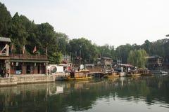 Asiatisk kines, Peking, historisk byggnad, sommarslotten, Suzhou gata Royaltyfri Foto