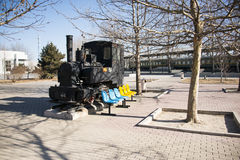 Asiatisk kines, Peking, järnväg museum, läge Arkivfoto