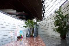 Asiatisk kines, Peking, nationell mitt för föreställningskonsten, modern arkitektur Arkivfoton