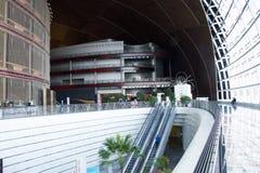 Asiatisk kines, Peking, nationell mitt för föreställningskonsten, modern arkitektur Royaltyfri Fotografi