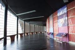 Asiatisk kines, Peking, nationell mitt för föreställningskonsten, modern arkitektur Arkivbild