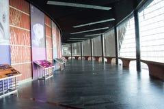 Asiatisk kines, Peking, nationell mitt för föreställningskonsten, modern arkitektur Royaltyfria Bilder