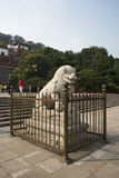 Asiatisk kines, Peking, sommarslotten, den viktiga avdelningen fyra av kontinenten Arkivbild