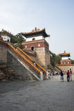 Asiatisk kines, Peking, sommarslotten, den viktiga avdelningen fyra av kontinenten Arkivbilder
