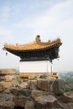 Asiatisk kines, Peking, sommarslotten, den viktiga avdelningen fyra av kontinenten Fotografering för Bildbyråer