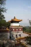 Asiatisk kines, Peking, sommarslotten, den viktiga avdelningen fyra av kontinenten Arkivfoton