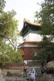 Asiatisk kines, Peking, sommarslotten, den viktiga avdelningen fyra av kontinenten Royaltyfri Bild