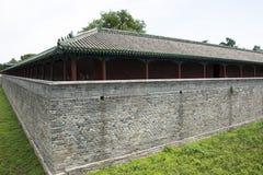 Asiatisk kines, Peking, Tiantan parkerar, slotten av abstinens; zhaigong Arkivbild