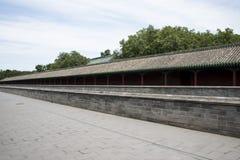 Asiatisk kines, Peking, Tiantan parkerar, slotten av abstinens; zhaigong Royaltyfri Foto