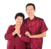 Asiatisk kinesisk familjvälsignelse Arkivbilder