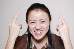 asiatisk kinesisk flicka Arkivfoto