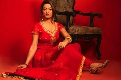 asiatisk klänningdeltagare Royaltyfri Bild