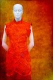 asiatisk klänningmodeskyltdocka Royaltyfria Foton