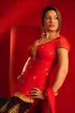 asiatisk klänningdeltagare Royaltyfri Foto