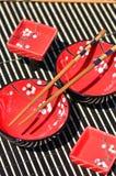 asiatisk kokkonst besegrar använt traditionellt Royaltyfri Bild