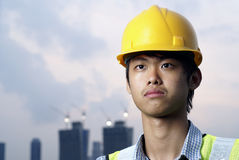 asiatisk konstruktionstekniker royaltyfria bilder