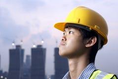 asiatisk konstruktionstekniker arkivbild