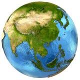Asiatisk kontinent på jord royaltyfri illustrationer