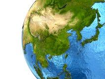 Asiatisk kontinent på jord vektor illustrationer