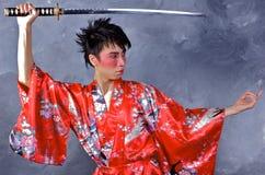 asiatisk krigare royaltyfria foton