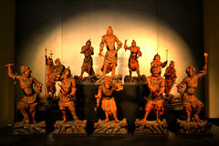Asiatisk krigareskulptur Royaltyfri Fotografi