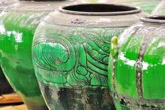 Asiatisk krukmakeri arkivbilder