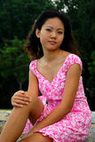 asiatisk kvinna Fotografering för Bildbyråer