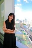 asiatisk kvinna för affärskontor Arkivbild