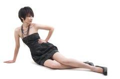 Asiatisk kvinna i mode arkivbild