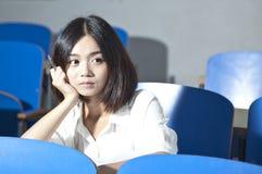 Asiatisk kvinnlig deltagare Fotografering för Bildbyråer