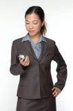 asiatisk kvinnlig för affärsledare arkivfoto
