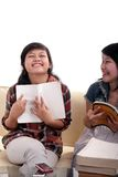 asiatisk lärande deltagare arkivbild