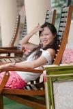 asiatisk leendetandkvinna arkivfoto