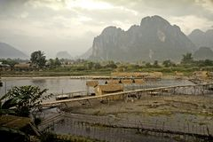 asiatisk liggande Arkivbild