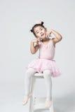 Asiatisk liten flickaballerina Royaltyfria Foton