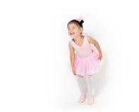 Asiatisk liten flickaballerina Arkivfoton