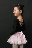 Asiatisk liten flickaballerina Royaltyfria Bilder