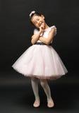 Asiatisk liten flickaballerina Royaltyfri Foto
