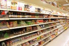 Asiatisk livsmedelsbutik Royaltyfri Bild