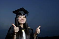 asiatisk lycklig kvinnligkandidat Royaltyfri Bild