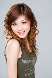 asiatisk lycklig leendekvinna Royaltyfria Foton